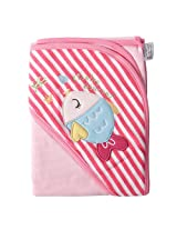 Baby Bucket Print Soft Cotton Hooded Towel/Wrapper 75cm X 75cm