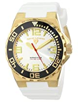 Swiss Legend Men's 10008-YG-02S-BB Expedition Silver Dial White Silicone Watch