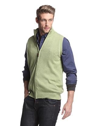 Oxxford Men's Zip-Up Vest (Green)