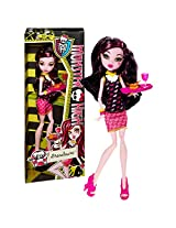 "Mattel Year 2013 Monster High ""Creepateria"" Series 11 Inch Doll Set Draculaura ""Daughter Of Dracula"" (Bjm19) With Food Tray, Heart Cake And Chalice"