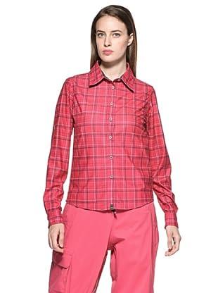 Salewa Camisa Molignon Pl W L/S Srt (Fucsia)