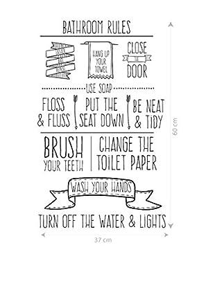 Really Nice Things Wandtattoo Bathroom Rules