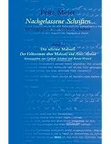 Fritz Meier, Nachgelassene Schriften: Die Schone Mahsati Band 2: Der Volksroman Uber Mahsati und Amir Ahmad