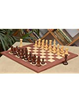 Chessbazaar Combo Of Antique Series Wooden Chess Pieces In Rose Box Wood & Rosewood / Maple Chessboard