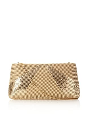 Whiting & Davis Women's Rays Convertible Clutch, Gold