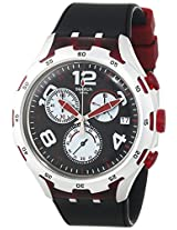 Swatch Men's YYS4004 Irony Analog Display Swiss Quartz Black Watch