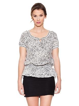 Mahal Camisa Manchas (Blanco / Negro)