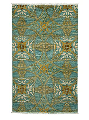 Darya Rugs Fine Modern Oriental Rug, Light Blue, 3' 3
