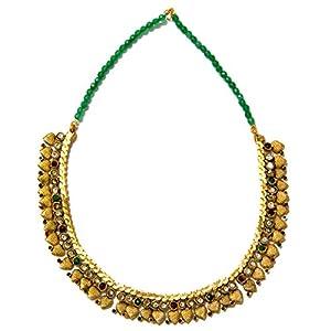 Daamak Jewellery Alluring Choker Necklace -Green