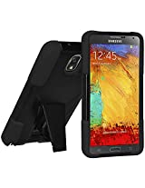 Amzer 96631 Double Layer Hybrid Case with Kickstand for Samsung GALAXY Note 3 SM-N9000/N9005N900 (Black)
