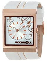 Rockwell Rockwell Time Unisex Mc113 Mercedes Gold Leather And White Watch - Mc113