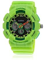 Fs204-Gr01 Green/Black Analog & Digital Watch