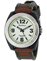 Armitron Men's 204549WLBKGN Silver-Tone Stainless-Steel Brown Sport Watch