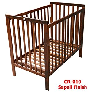 Wudplay Clover Econo Sliding Rail Crib (Dark Walnut Finish)