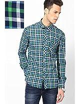 Green Checks Casual Shirt