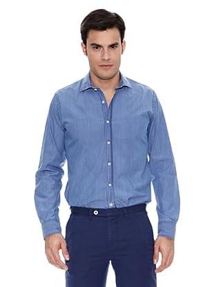 Pedro del Hierro Camisa Non Iron Sport Indigo Lisa (Azul)