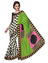 Green Color Art Bhagalpur Silk Saree with Blouse 11329