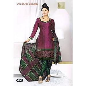 Om Shree Ganesh Ladies 100% Cotton Dress Material 401