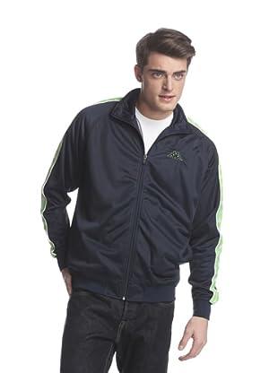 Kappa Men's Banda Anniston Track Jacket (Navy/Lime)