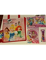 6 Piece Valentine gift bundle- Disney Princess Bag, Disney Princess Tattoos, Disney Princess Flashlight, Disney Princess Pez Dispenser with Pez candy, Disney Princess Nightlight & Disney Princes Inflatable Wand (6 Piece Bundle)