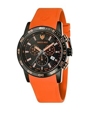 Swiss Eagle Uhr mit Schweizer Quarzuhrwerk Field orange 45 mm