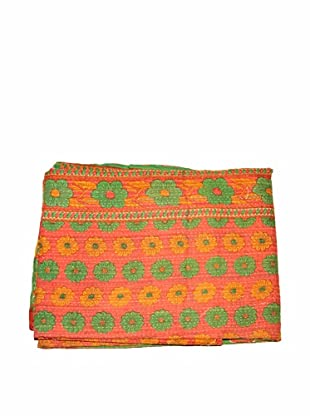 Vintage Kantha Throw, Multi, 50