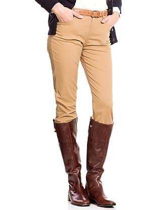 Cortefiel Pantalón Regular Algodón Esmerilad (Camel)