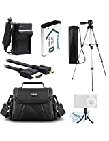 Essential Accessories Bundle Kit For Sony HDR-CX240, HDR-PJ275, HDR-AS30V, HDR-AS10, HDR-AS15 Video Camera Includes Extended Replacement (1600 maH) NP-BX1 Battery + AC/DC Travel Charger + Micro HDMI Cable + Case + 50 Tripod w/Case + Mini Tripod + More