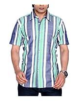 Moksh Men's Striped Casual Shirt V2IMS0414-09 (X-Large)