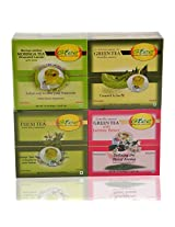 GTEE Moringa Tea Bags & Tulsi Tea Bags & Green Tea Bags - Regular & Green Tea Bags-Jasmine (10 Tea Bags X 4 PACKS)