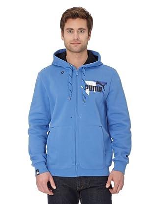 Puma Jacke Logo Hooded (blue yonder-black)