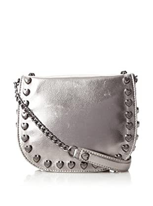 Betsey Johnson Women's Heart Attack Cross-Body, Gunmetal