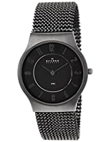 Skagen Grenen Analog Black Dial Men's Watches's Watch - 233LMM2M