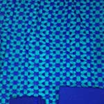 Blue Block print Cotton Dress Material With Dupatta