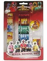 Power Rangers Stationery Set - Design 1, Multi Color (8 Piece)