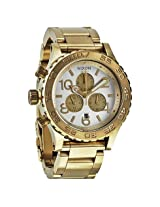 Nixon 42-20 Chronograph Champagne Dial Gold-Tone Men's Watch - Nxa0371219