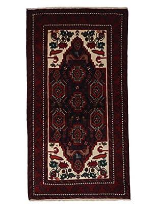 Darya Rugs Authentic Persian Tribal Rug, Red, 3' 6