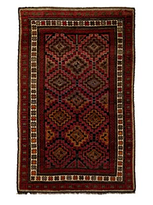 Darya Rugs One-of-a-Kind Tribal Rug, Rust, 4' 10
