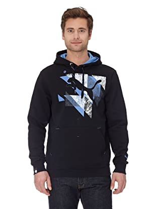 Puma Hoodie Logo Fleece (black-blue yonder)