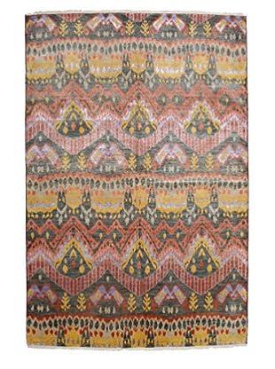 Darya Rugs Ikat Oriental Rug, Pink, 6' 1