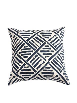 Filling Spaces Hand-Printed Brushstroke Pillow, Indigo
