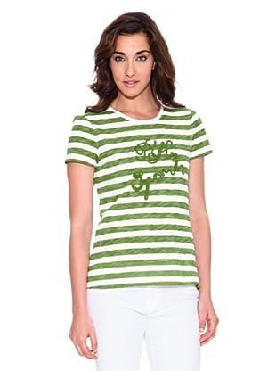 Pedro del Hierro Camiseta Rayas (Verde)