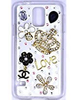 N3Pow'r 3D Bling Rhinestone Diamond Studded Mobile Case or Back Cover for Samsung Galaxy S4 - Love