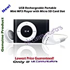 USB Rechargeable Portable Mini MP3 Player with Micro SD/TF Card Slot - Pink/Green/Red/Blue