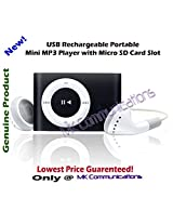 MK Communications-USB Rechargeable Portable Mini MP3 Player with Micro SD/TF Card Slot - Pink/Green/Red/Blue
