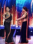 Madhuri Dixit Black Bollywood Replica Saree