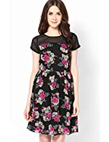 Flowers Printed Pink Dress