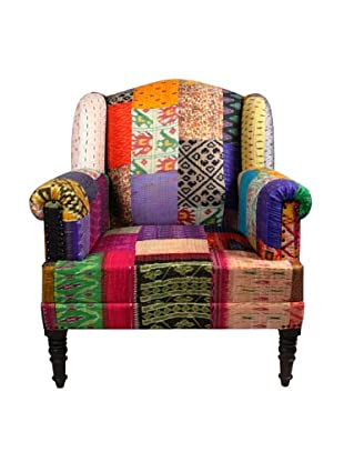 Melange Home Bengali One-of-a-Kind Chair, Mixed Ikats