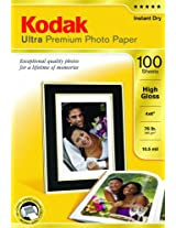 Kodak Ultra Premium Photo Paper 4 x 6 Inches High Gloss 100 sheets (1833987)