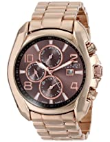 August Steiner Men's AS8109RG Swiss Quartz Multifunction Brown Dial Rose-tone Bracelet Watch